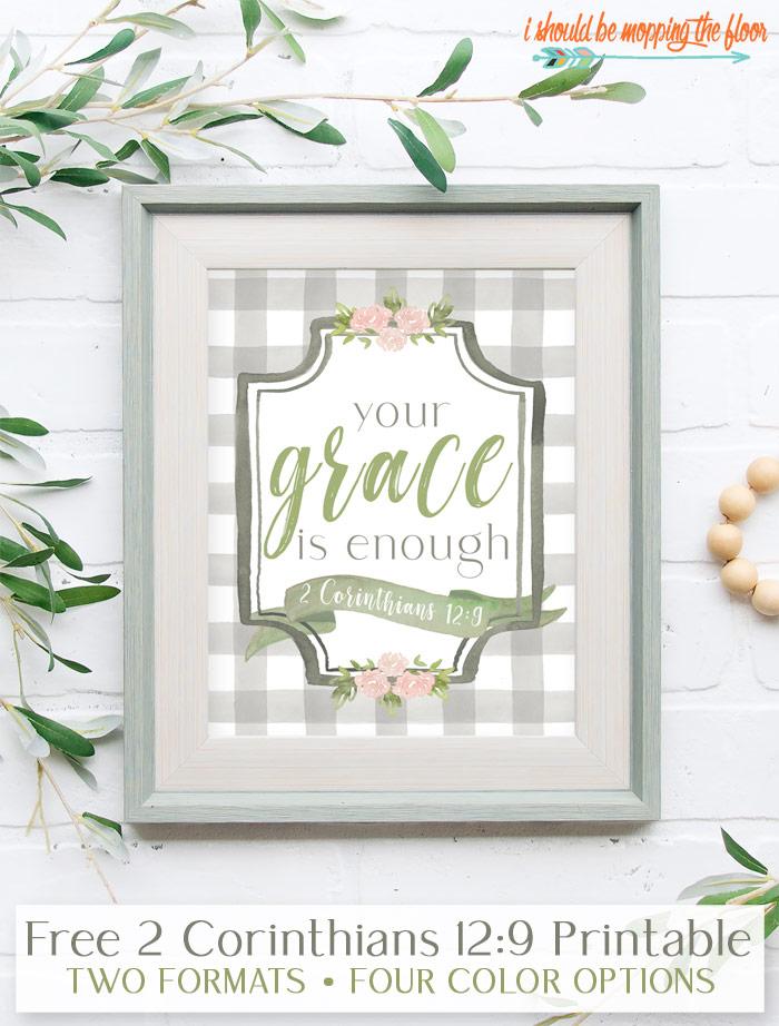 Your Grace is Enough Free Printable