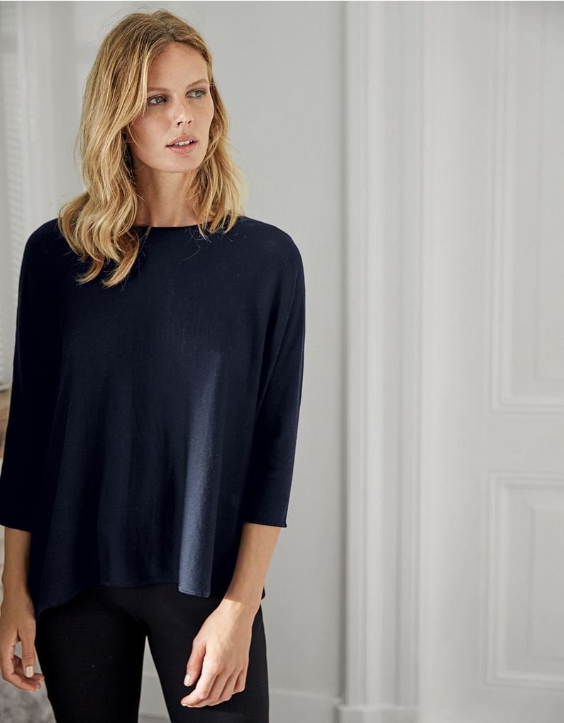 the white company silk cotton boxy jumper