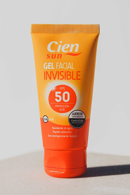 Cien Sun gel facial invisible bote