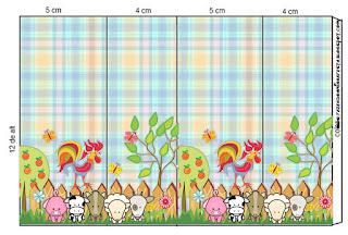 Etiquetas de La Granja Bebés en Celeste para imprimir gratis.