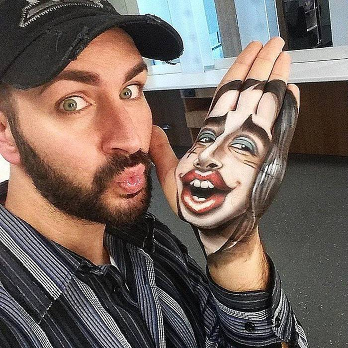 "His surrealistic drawings collect many ""likes"" on social networks. Instagram Luka Luce continues to gain subscribers through his talent.  The make-up artist proclaimed himself the first artist in the world to create such works (photo: Instagram)."