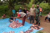 Babinsa Telun Hadiri Tradisi Bantai Adat, Perekat Kebersamaan Memasuki Bulan Ramadan