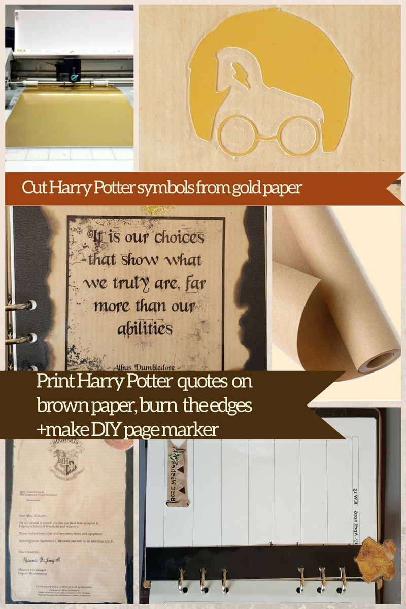Diy Harry Potter Planer Filofaxing Step By Step