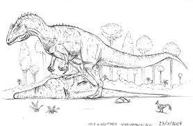 Megalosaurus Battle Dinosaur Coloring Pages