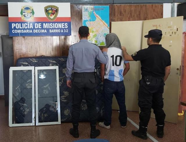 POSADAS : Recuperan objetos robados y hay un detenido
