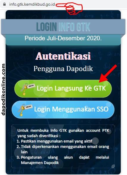 Cara Cek Info GTK Periode Juli-Desember 2020