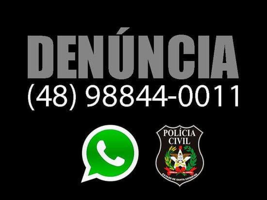 Denunciar crimes pelo whatsapp