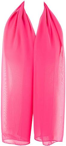 Long Sheer Soft Pink Chiffon Scarves Shawls