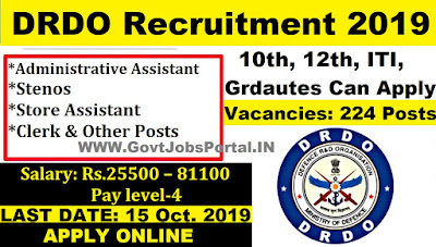 DRDO Recruitment 2019