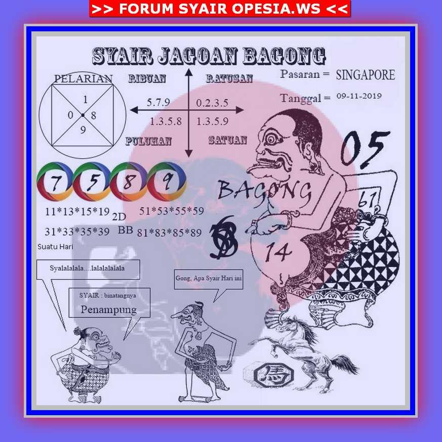 Kode syair Singapore Sabtu 9 November 2019 70