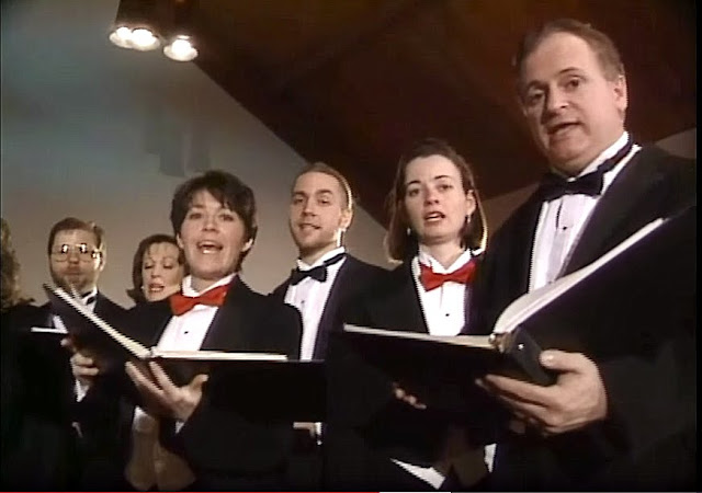 Screenshot of The Stairwell Carollers on CTV's Regional Contact