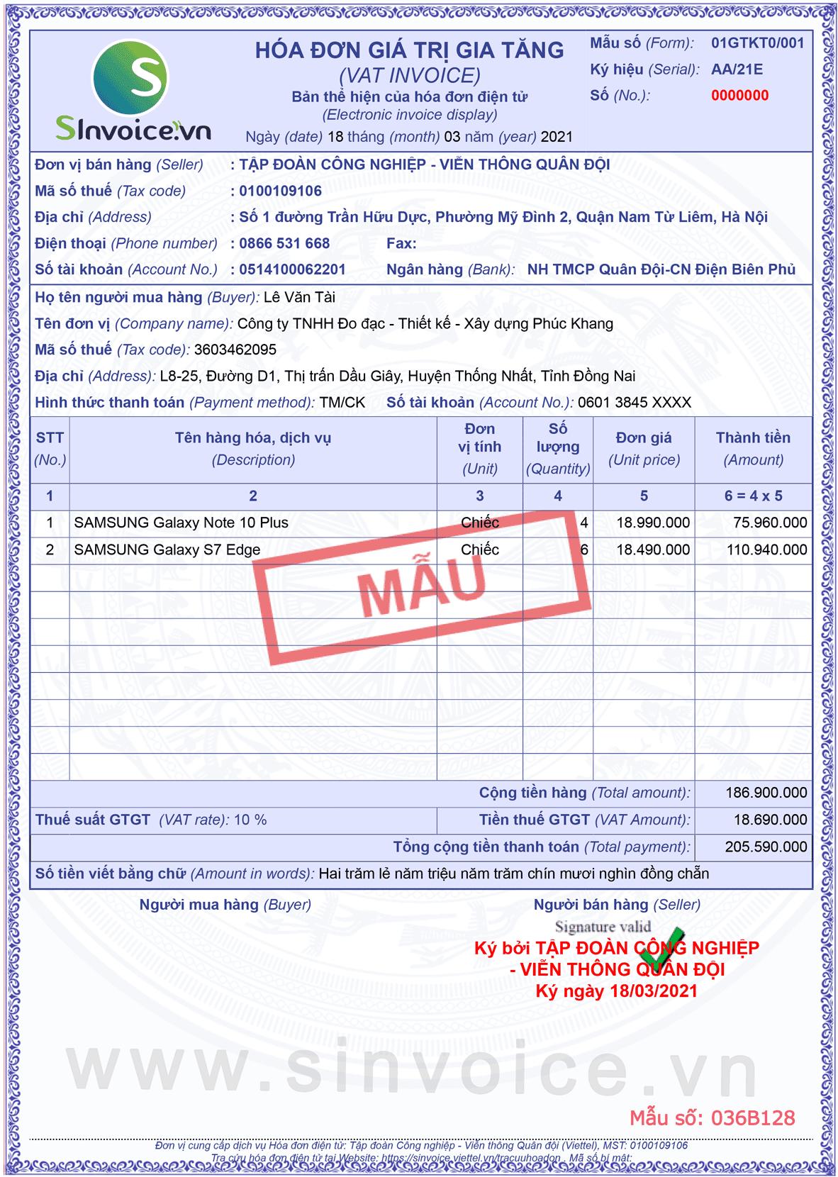Gói hóa đơn điện tử đại trà DT3000