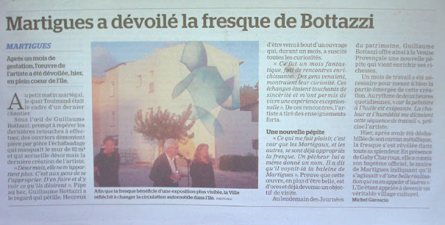 Bottazzi art Cote d'Azur fresque peintre