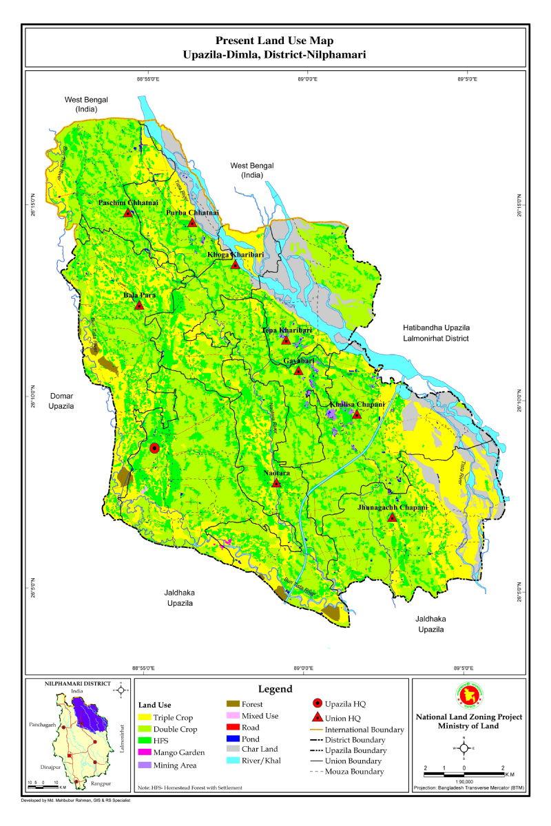 Dimla Upazila Mouza Map Nilphamari District Bangladesh