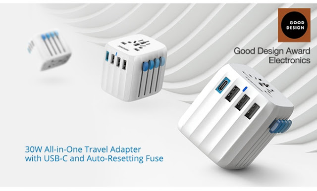 Passport GO versatile USB-C travel adapter