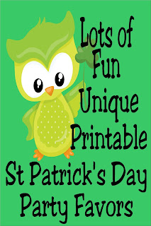 Find another reason to celebrate and have fun this month, with St Patrick's day. Print out some fun and unique printable party favors for you to give your family, friends, neighbors, or coworkers and spread some joy and luck this month.