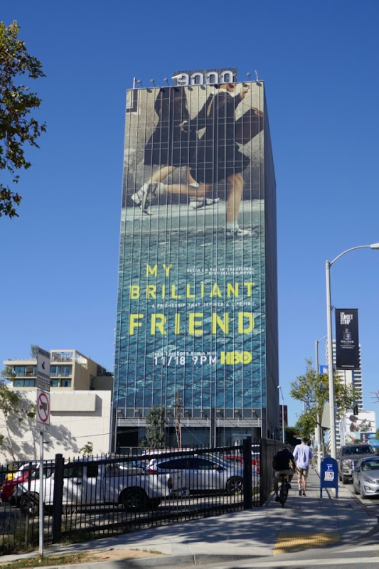 Giant My Brilliant Friend series billboard