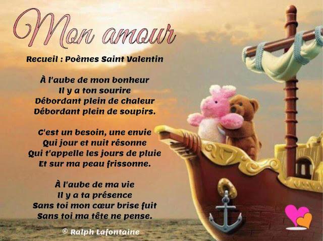 Poème St-valentin pour mon amour
