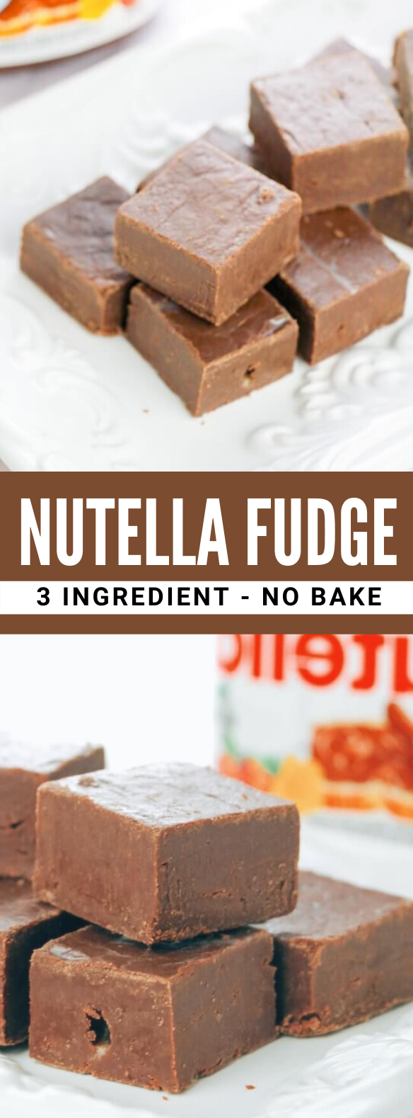 Nutella Fudge - Only 3 Ingredients! #desserts #sweets