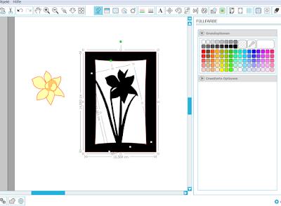 Screenshot mit Motiv und Rahmen