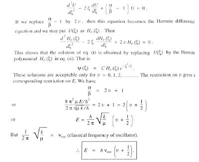 Molecule as a harmonic Oscillator