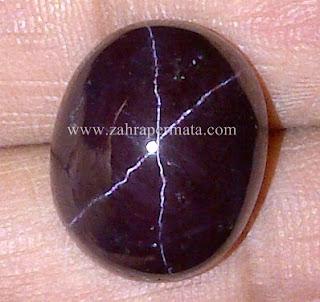 Batu Permata Star Garnet + Memo - ZP 544