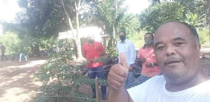 Vereadores Amilson Neponuceno, Ademir do Marzagão e Tico Nazário visitaram o assentamento Fonte de Luz e se encontraram com o fiscal do povo