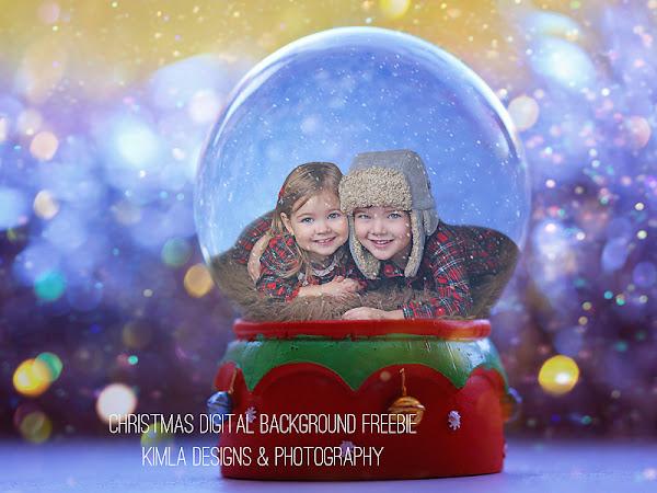 Christmas Digital Background Freebie for Photographers