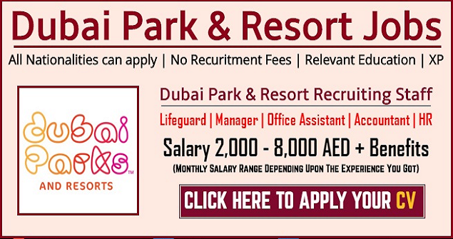 Jobs At Dubai Parks and Resorts