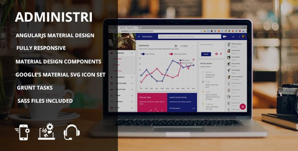 Administri Material Design dashboard Template