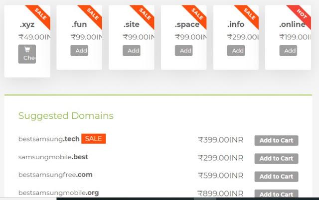 सबसे सस्ता डोमेन नाम पंजीकरण .xyz सिर्फ @ 49 रुपये