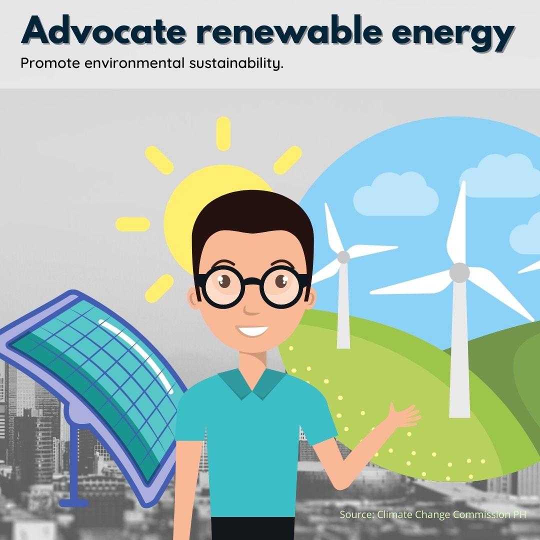 Advocate renewable energy Poster