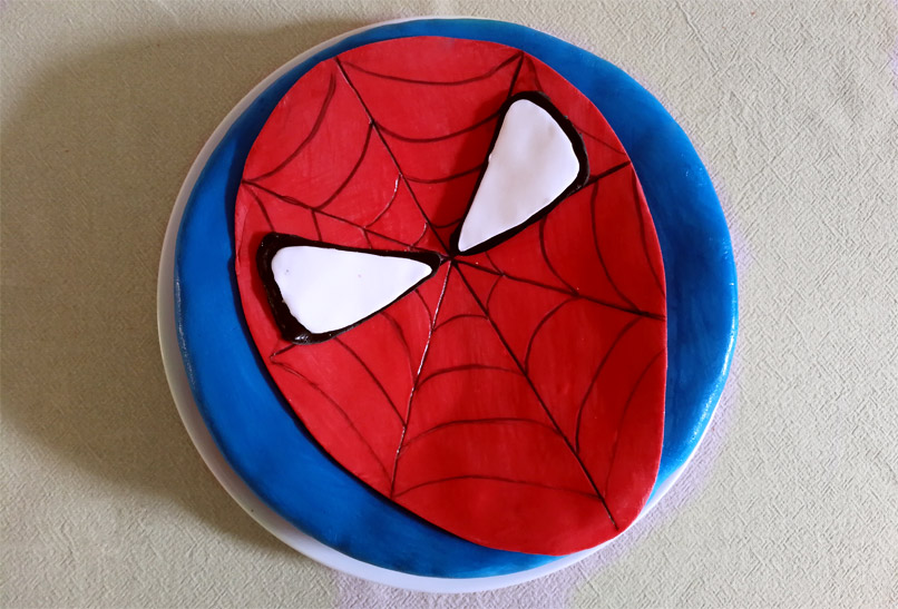 Spiderman-chocoladetaart