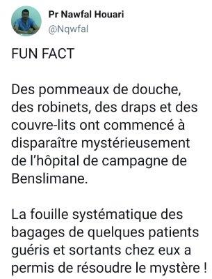 """مهزلة :ضبط عدد من مرضى """"كورونا"""" يسرقون تجهيزات المستشفى الميداني ببنسليمان"""