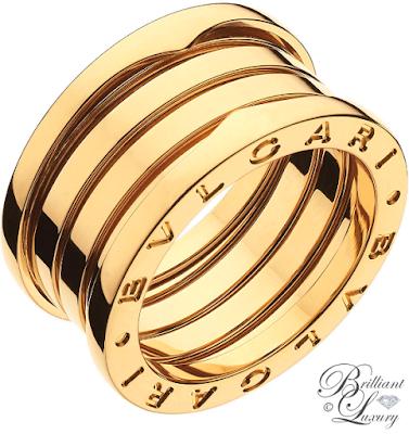 Bvlgari B.zero1 4-band 18k yellow gold ring #jewelry #brilliantluxury