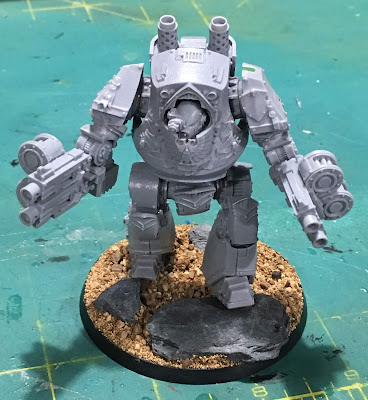 Dark Angels Legion Relic Contemptor Dreadnought WIP