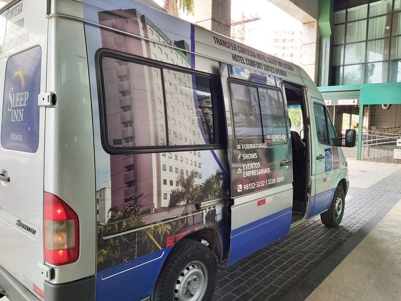 Transfer cortesia Hotel Comfort Suítes Vitória