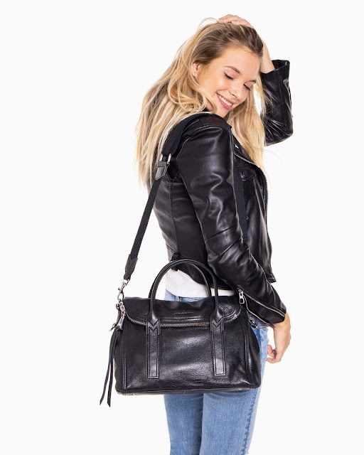 Aimee Kestenberg On My Way Satchel, Lapis Black (RMNOnline.net)