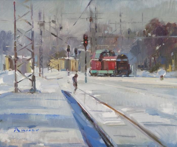 Болгарский художник. Ivan Russev
