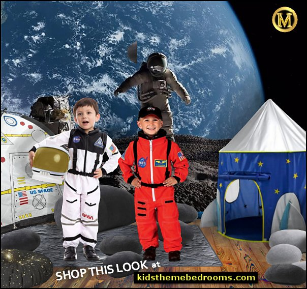outer space WALLPAPER MURAL  outer space playroom ideas   Astronaut costumes  Astronaut Space Tent for Kids
