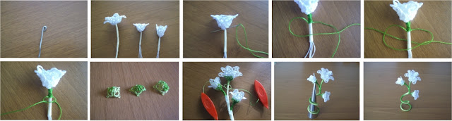 white flower - tatting