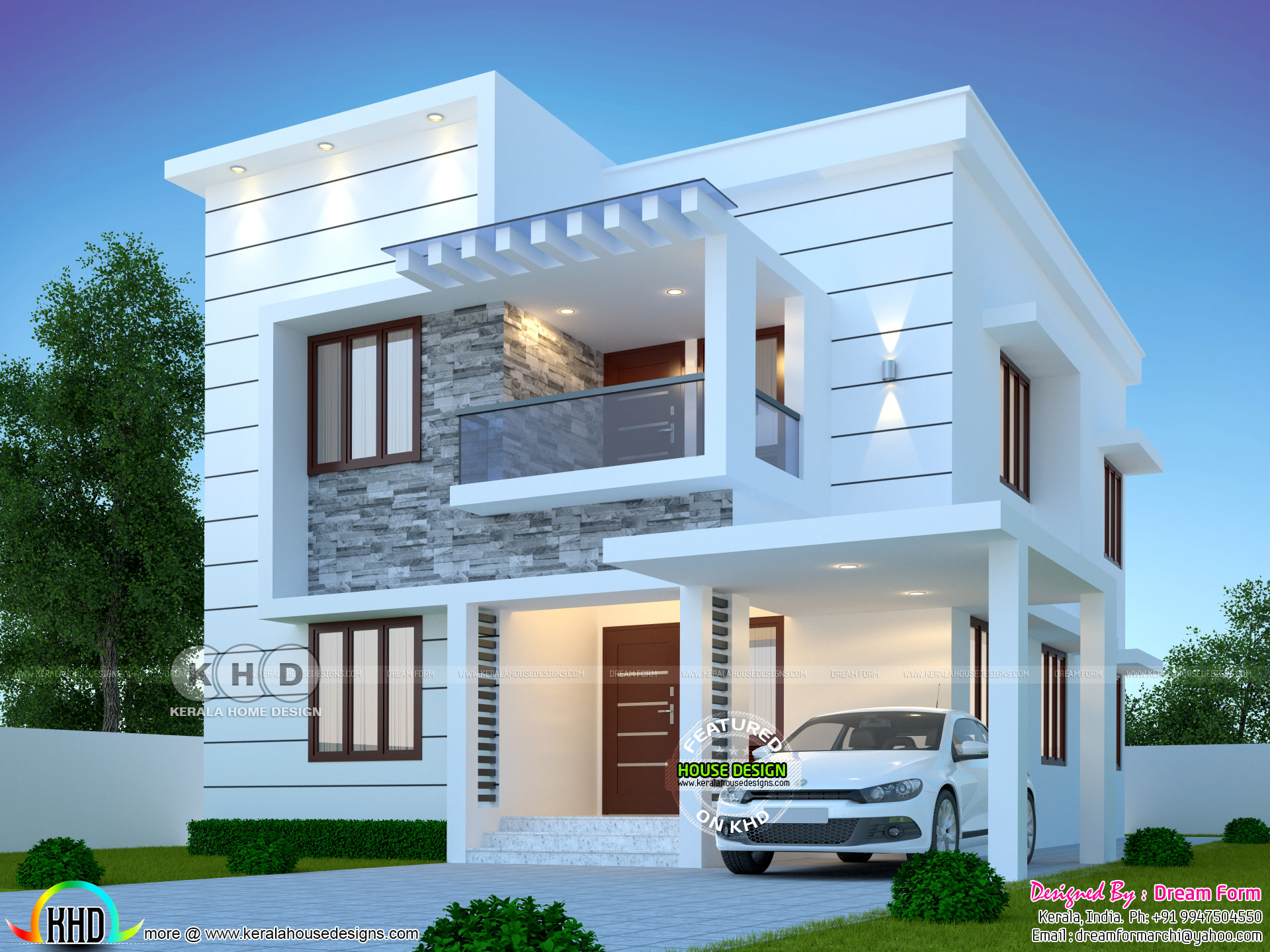 3 bedrooms 1500 sq.ft modern home design | Kerala home ...