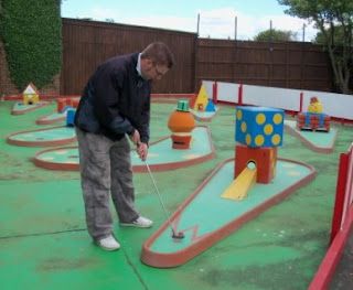 Crazy Golf at the Vegas Amusements in Hunstanton
