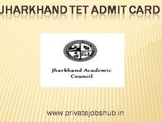 Jharkhand TET Admit Card