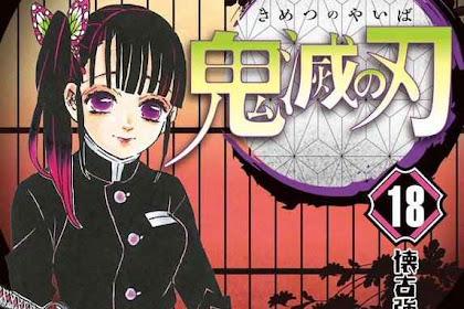 Cover 'Kimetsu no Yaiba Volume 18' Tampilkan Kanao Tsuyuri!