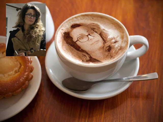 Montage photo dans une tasse à café