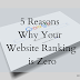 5 Reasons Why Your Website Ranking is Zero And How To Fix It