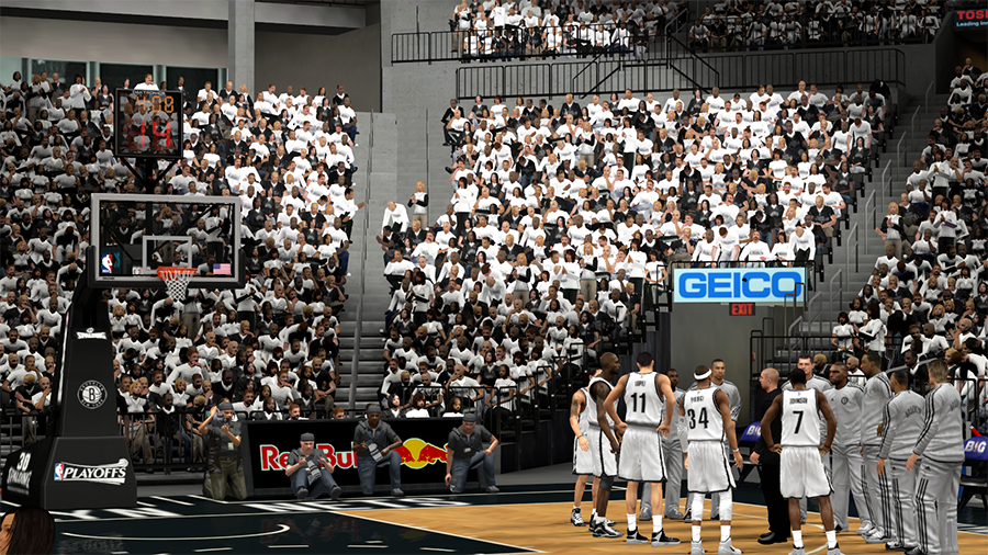 NBA 2K14 Brooklyn Nets Playoffs Crowd Patch