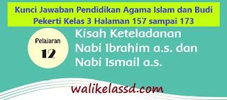 Kunci Jawaban Pendidikan Agama Islam dan Budi Pekerti Kelas 3 Halaman 157 sampai 173