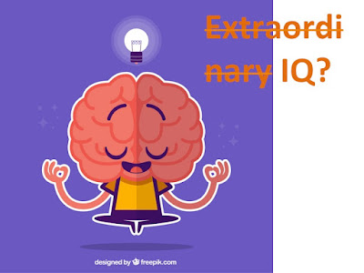 "Picture Shows A Bright Brain with a Bulb Glowing and a question ""Extraordinary IQ?"""